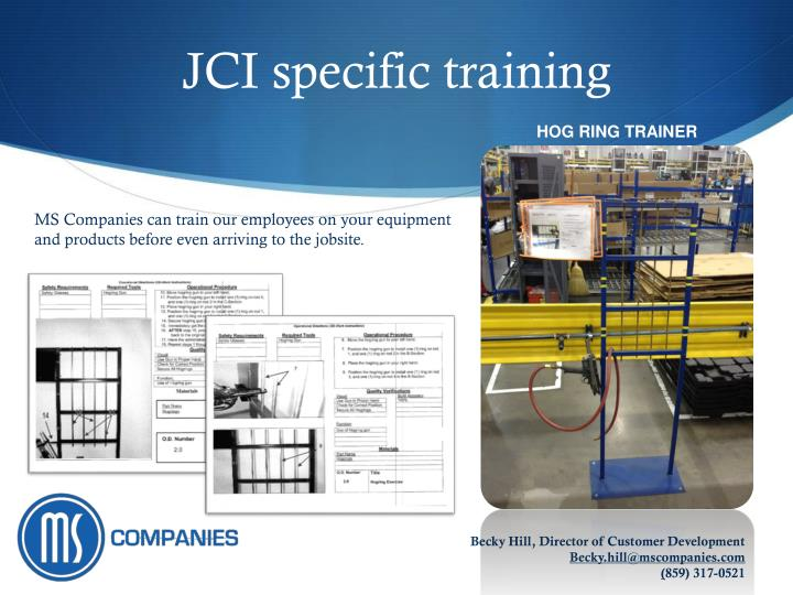 JCI specific training