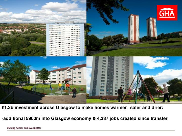 £1.2b investment across Glasgow to make homes warmer,  safer and drier: