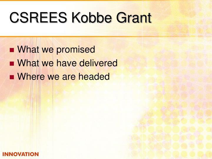 CSREES Kobbe Grant