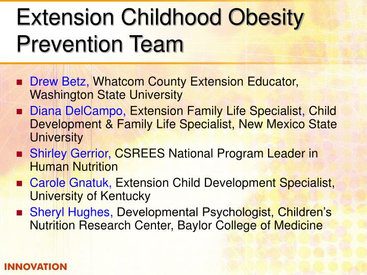 Extension Childhood Obesity Prevention Team
