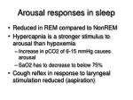 arousal responses in sleep