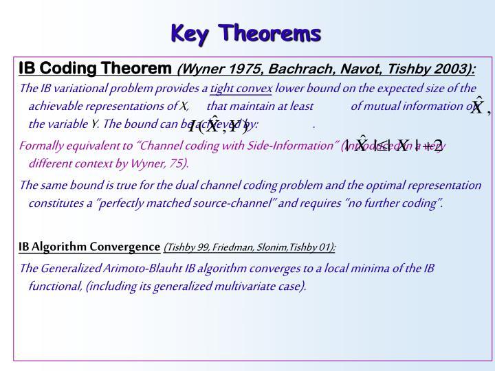 Key Theorems