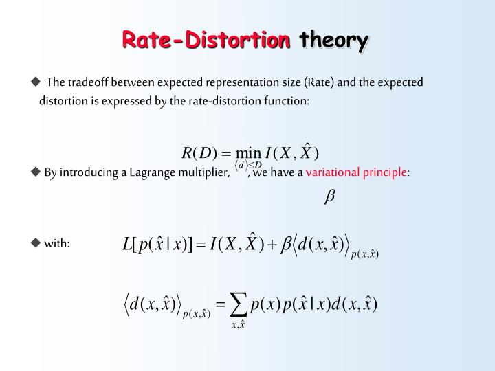 Rate-Distortion