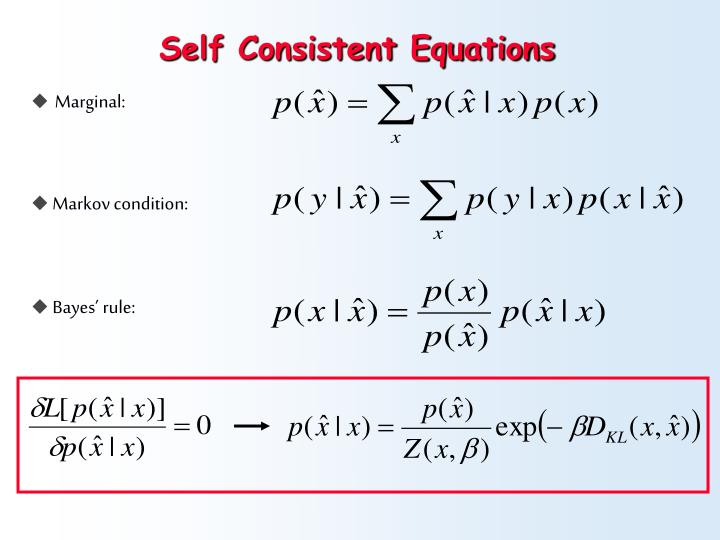 Self Consistent Equations