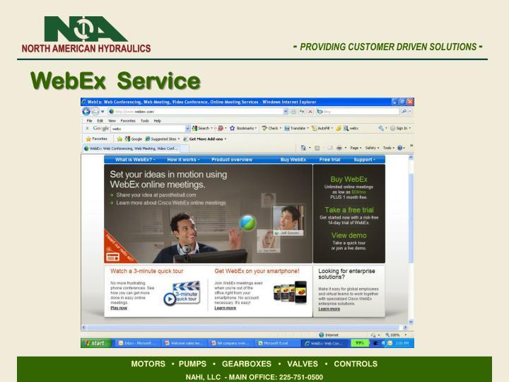 WebEx  Service