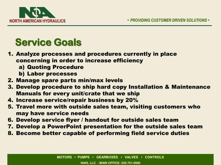Service Goals