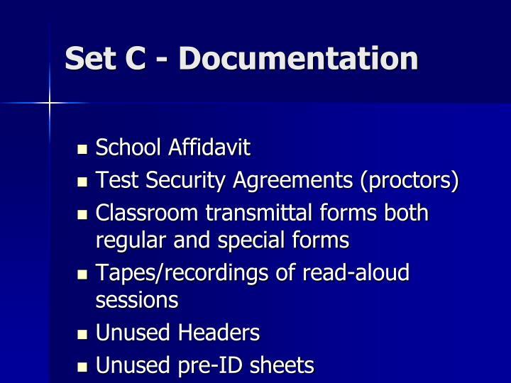 Set C - Documentation