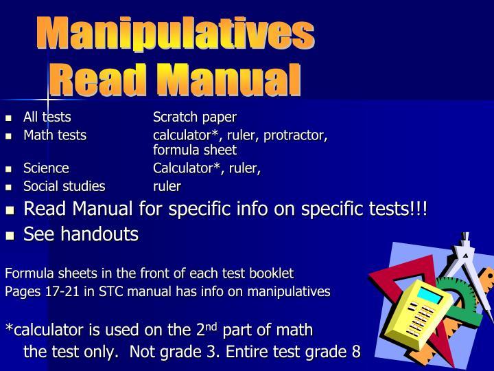 All tests Scratch paper
