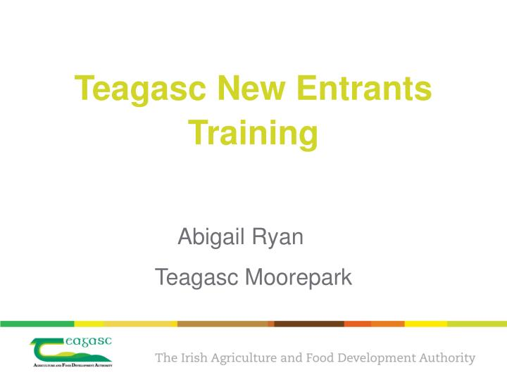 Teagasc new entrants training