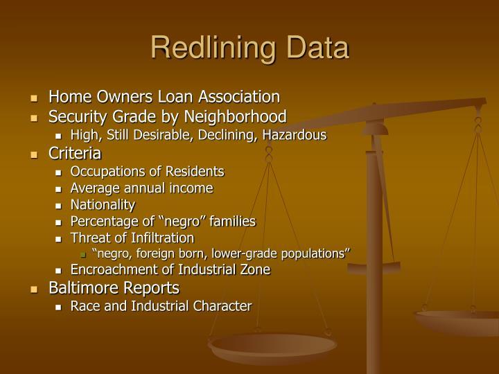 Redlining Data