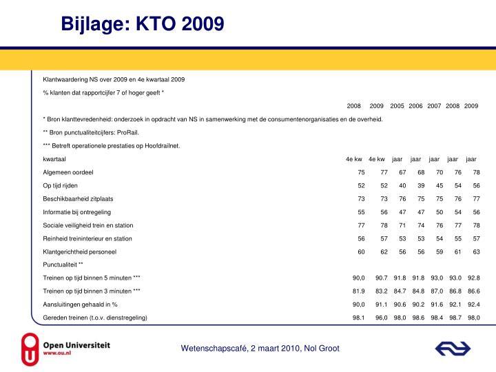 Bijlage: KTO 2009
