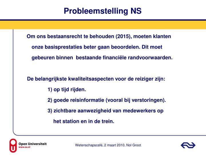 Probleemstelling NS
