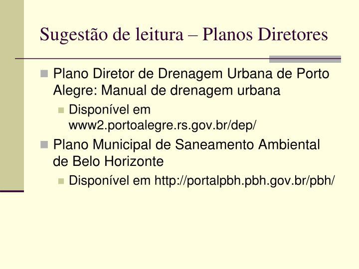 Sugestão de leitura – Planos Diretores