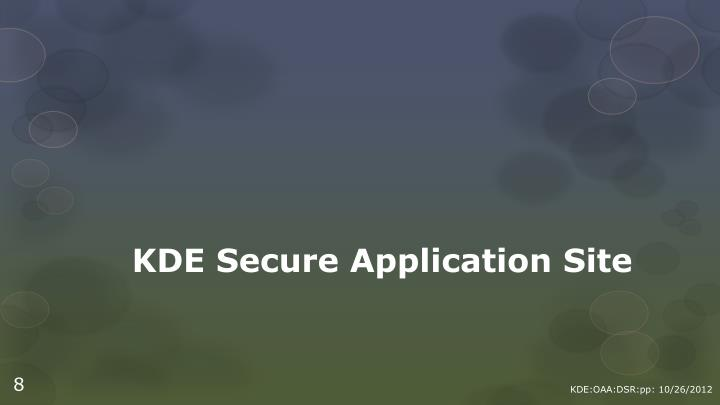 KDE Secure Application Site