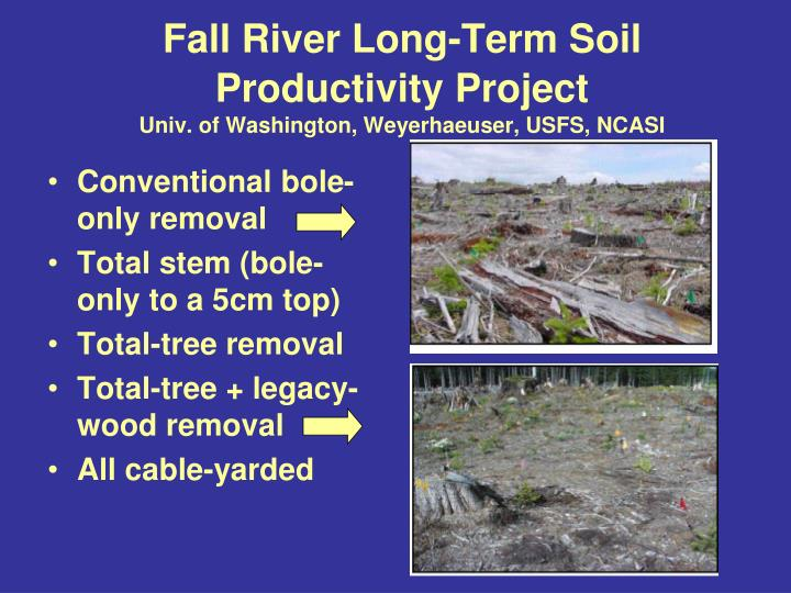 Fall River Long-Term Soil Productivity Project