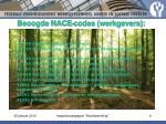beoogde nace codes werkgevers