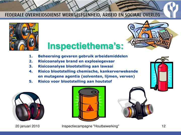 Inspectiethema's:
