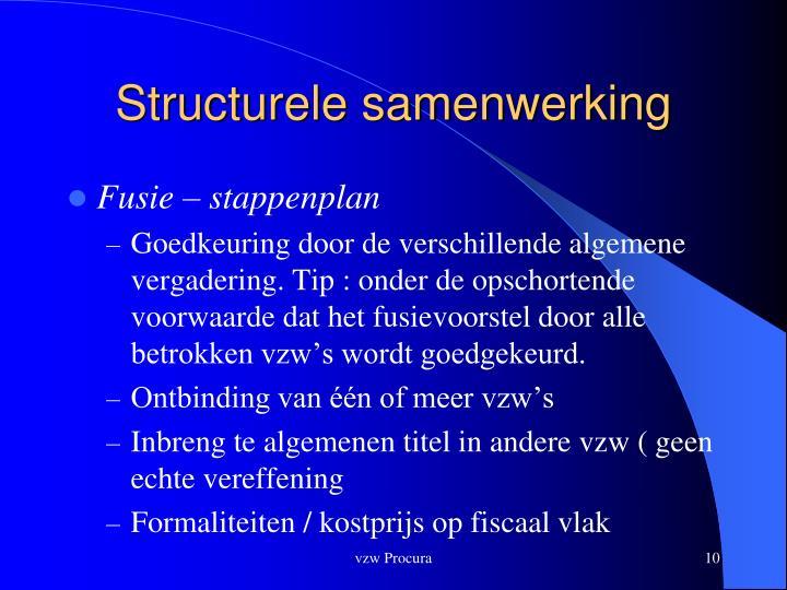 Structurele samenwerking