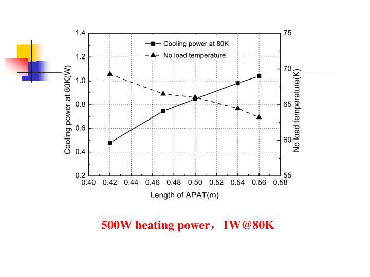 500W heating power