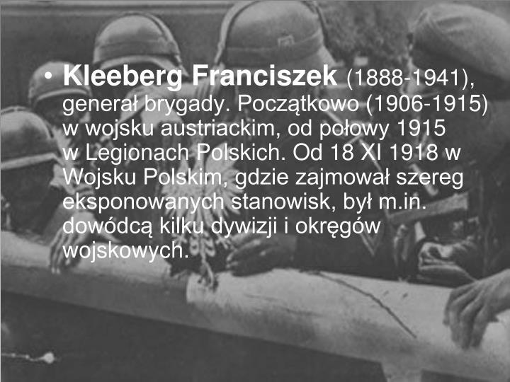 Kleeberg Franciszek