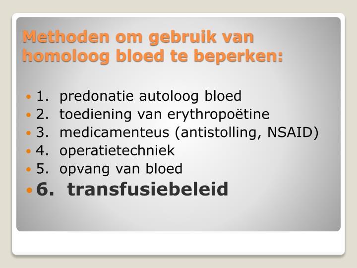 1.  predonatie autoloog bloed