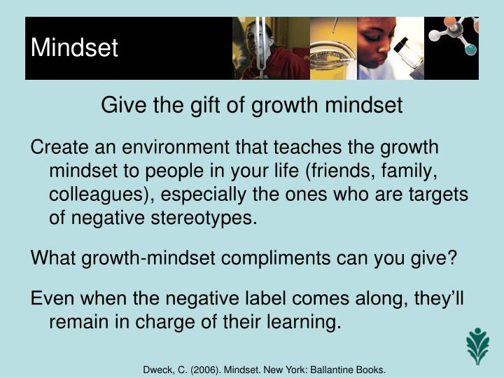 Give the gift of growth mindset