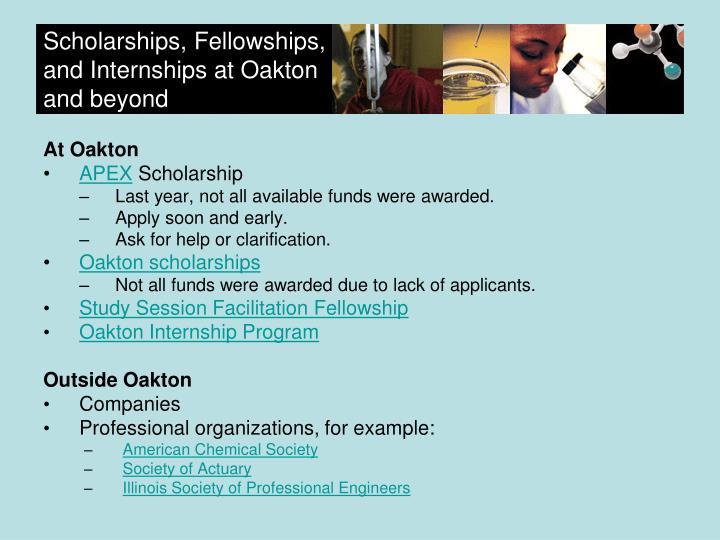 Scholarships, Fellowships,