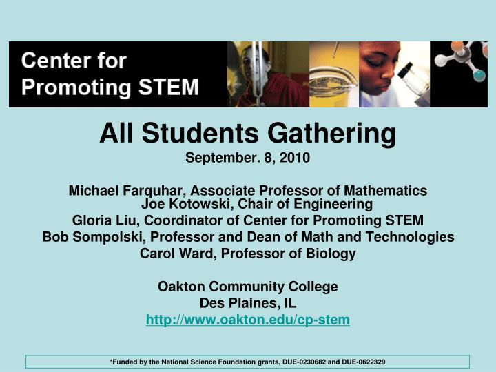 All Students Gathering