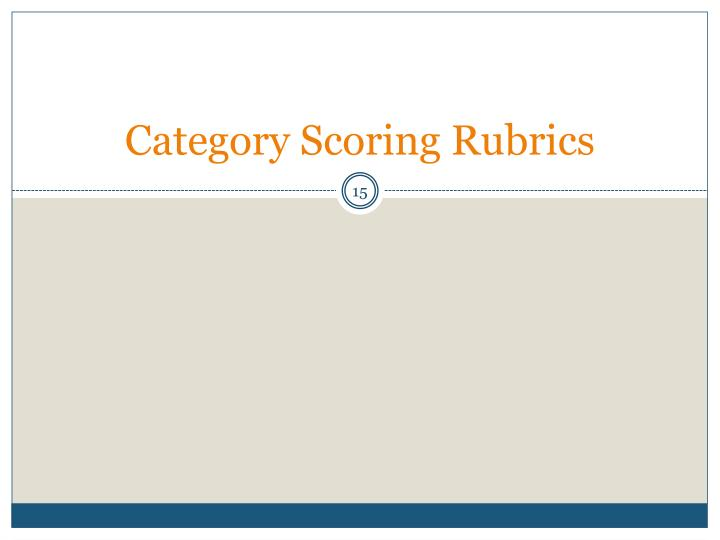 Category Scoring Rubrics