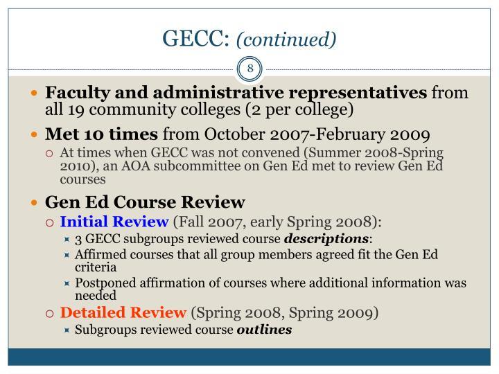 GECC: