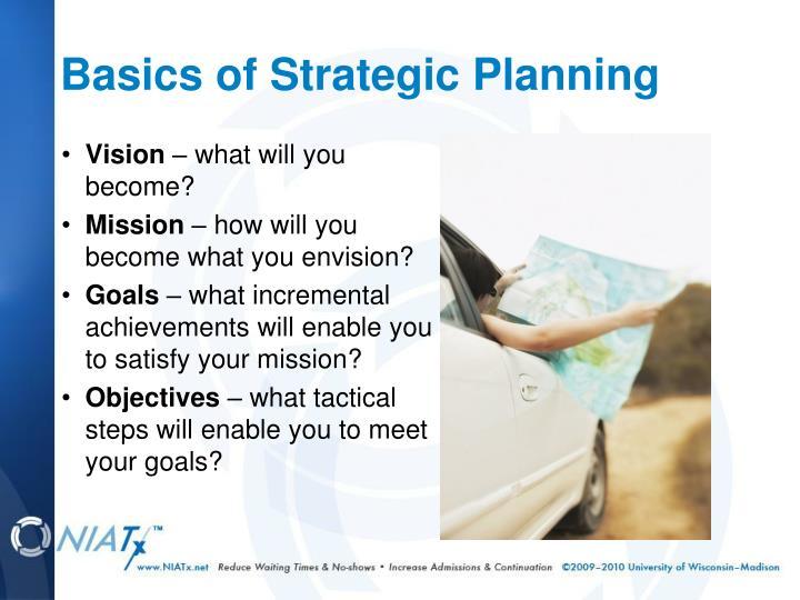 Basics of Strategic Planning