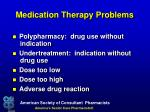 medication therapy problems