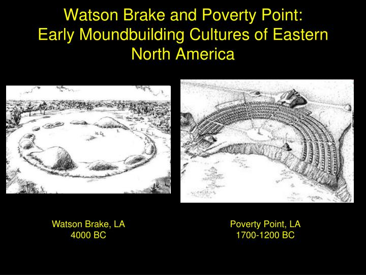 Watson Brake and Poverty Point: