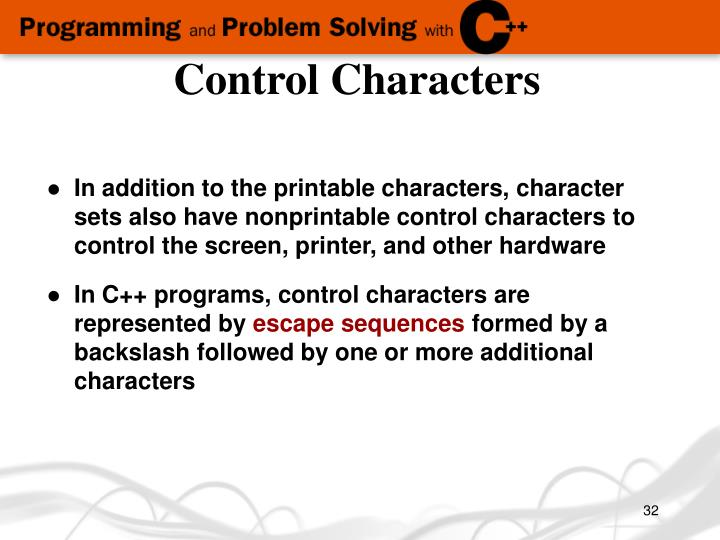 Control Characters