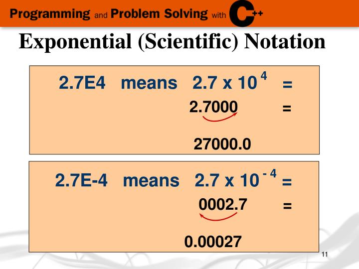 Exponential (Scientific) Notation