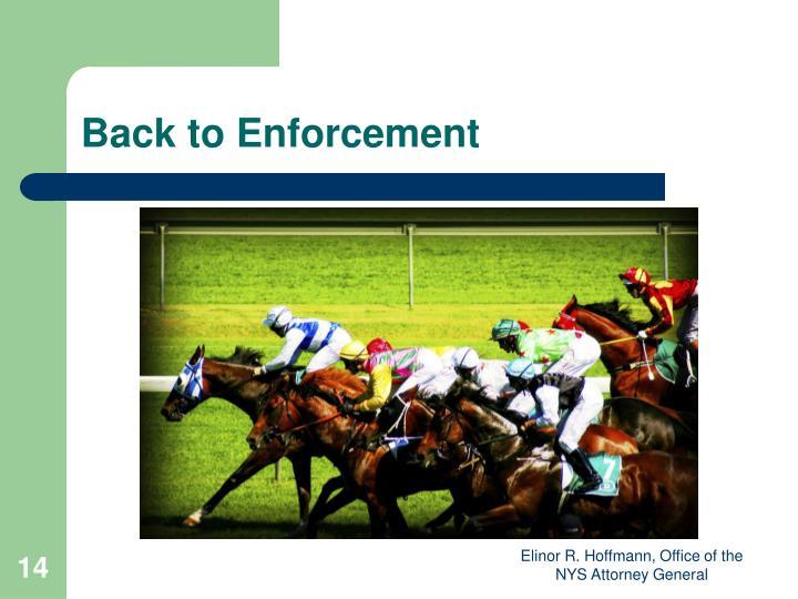 Back to Enforcement