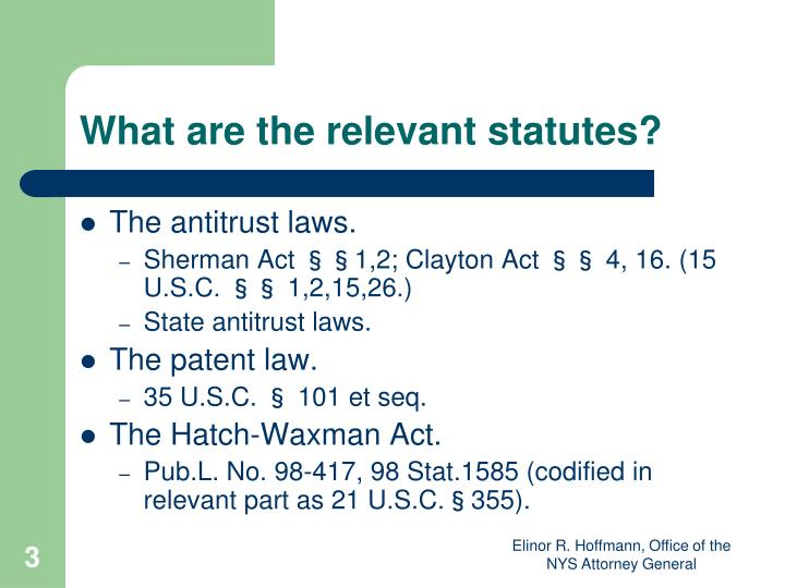 What are the relevant statutes?