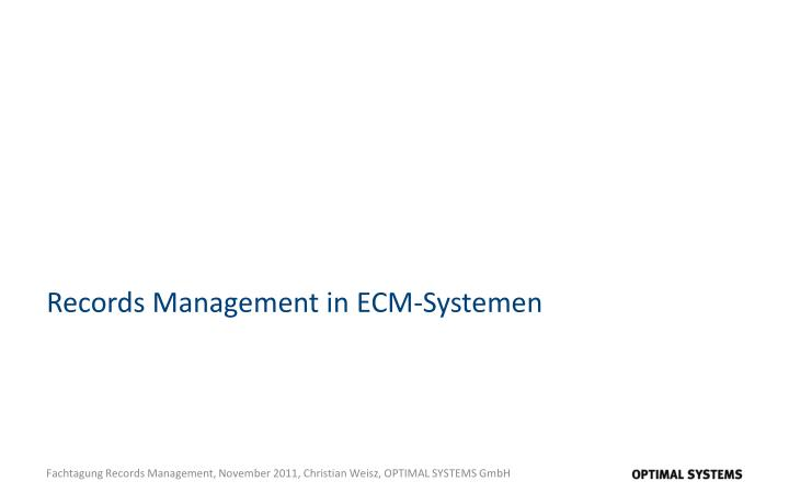Records management in ecm systemen