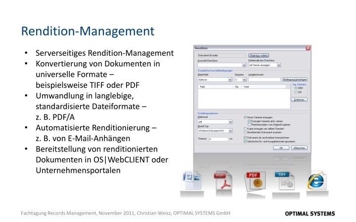 Rendition-Management