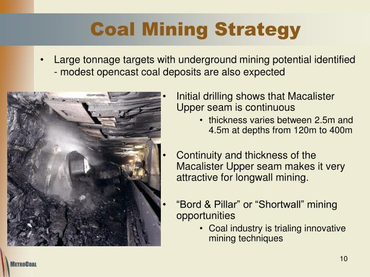 Coal Mining Strategy