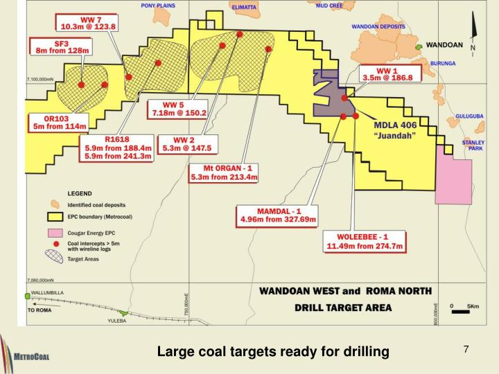 Large coal targets ready for drilling