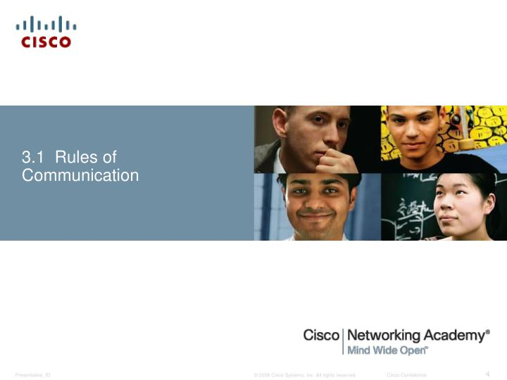 3.1  Rules of Communication