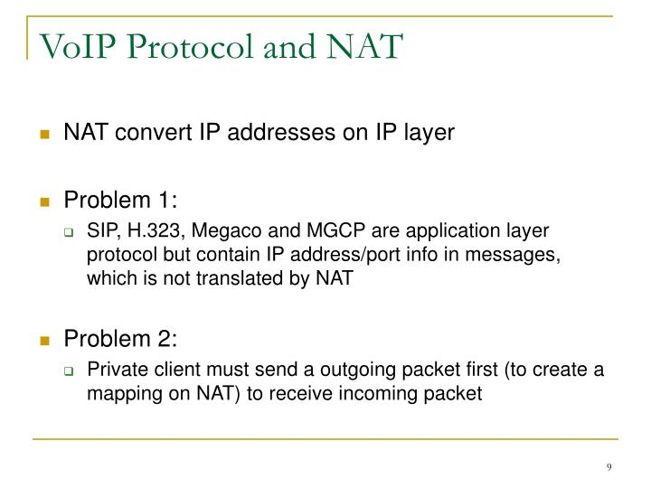 VoIP Protocol and NAT