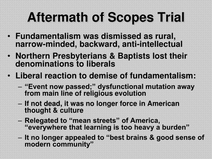 Aftermath of Scopes Trial