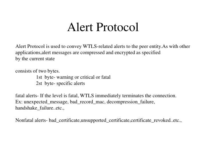 Alert Protocol