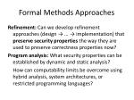 formal methods approaches