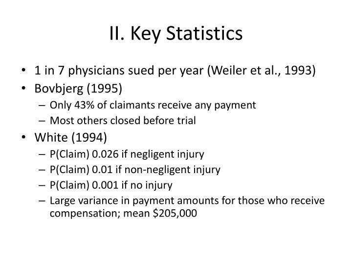 II. Key Statistics