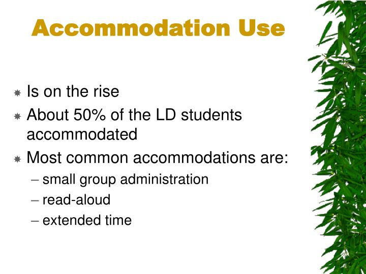 Accommodation Use