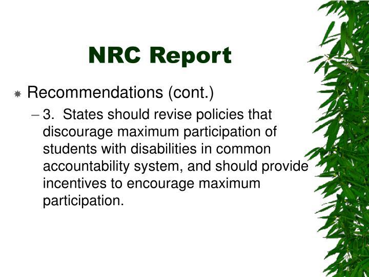 NRC Report