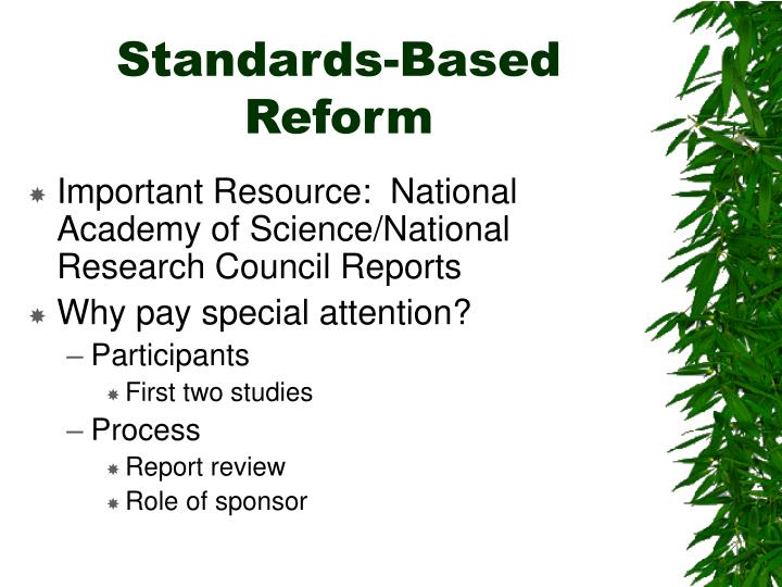 Standards based reform
